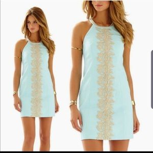 LILLY whisper blue lace dress